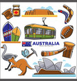 australia travelling map with destinations and vector image
