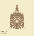 barong traditional ritual balinese mask flat vector image vector image