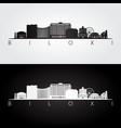biloxi mississippi skyline and landmarks vector image vector image