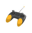 black and yellow wireless joystick with antenna vector image vector image