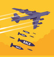 bomber and sale bombing vector image vector image
