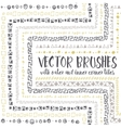 brushes with inner and outer corner tiles vector image vector image