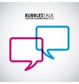 bubbles talk vector image vector image