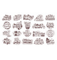 bundle of christmas handwritten lettering vector image vector image