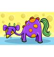 cartoon funny fantasy creature vector image vector image