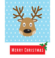 christmas card with cute deer vector image vector image