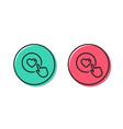 click like line icon love symbol vector image