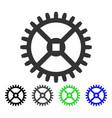 clock gear flat icon vector image vector image