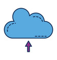 cloud silhouette isolated icon vector image