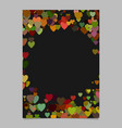 color abstract random heart brochure template vector image vector image