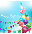 Color balloons happy birthday vector image