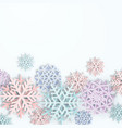 cover with paper cut art snowflakes layered vector image vector image