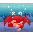 Crab in sea vector | Price: 3 Credits (USD $3)