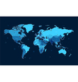 Dark blue detailed World map vector image vector image