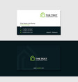 dark business card for a cheap hotel vector image vector image