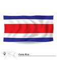 Flag of Costa Rica vector image vector image