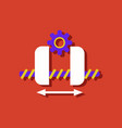Flat icon design collection gears and wheels in