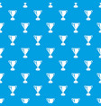 goblet pattern seamless blue vector image