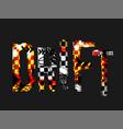 grunge drift lettering vector image vector image
