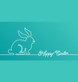 happy easter bunny banner background in simple one vector image vector image