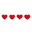 heart icons love symbol valentine s day vector image vector image