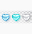 hearts set shades blue color for valentine s vector image vector image