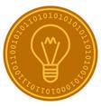 hint lamp digital coin vector image vector image