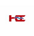 KI company linked letter logo vector image vector image