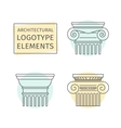 line flat icons Columns elements of a corporate vector image vector image