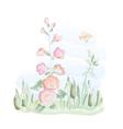 mallow watercolor vector image vector image