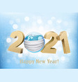 merry christmas and new year background 2021 vector image vector image