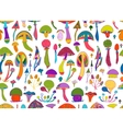 Mushrooms seamless pattern for your design vector image vector image