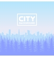 Panorama of city with forest vector image vector image