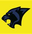 panther head logo sports esports mascot vector image