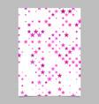 pentagram pattern brochure design - stationery vector image vector image