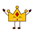 queen crown isolated kawaii character vector image vector image