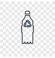 recycled bottle concept linear icon isolated on vector image
