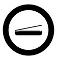 scanner black icon in circle vector image vector image