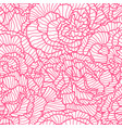 seamless pattern with linear roses beautiful vector image