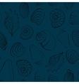 Seashells blue seamless background vector image vector image