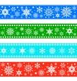 set christmas borders vector image vector image