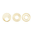 set realistic 3d golden round frame isolated vector image