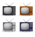 set vintage televisions vector image vector image