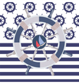 Ship steering wheal vector image vector image