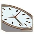 silver wall clock icon image vector image