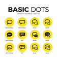 speech bubble flat icons set vector image vector image