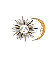 sun and moon tarot major arcana symbols vector image vector image