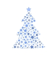 symbol silhouette of christmas tree stars vector image