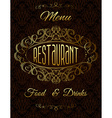 template with gold calligraphic elements vector image vector image