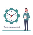 time management control isolated on background vector image vector image
